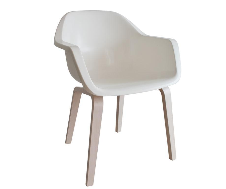 Chaise le bruno blanc cr me de pulpo l46 x p57 x h80 for Assise de chaise