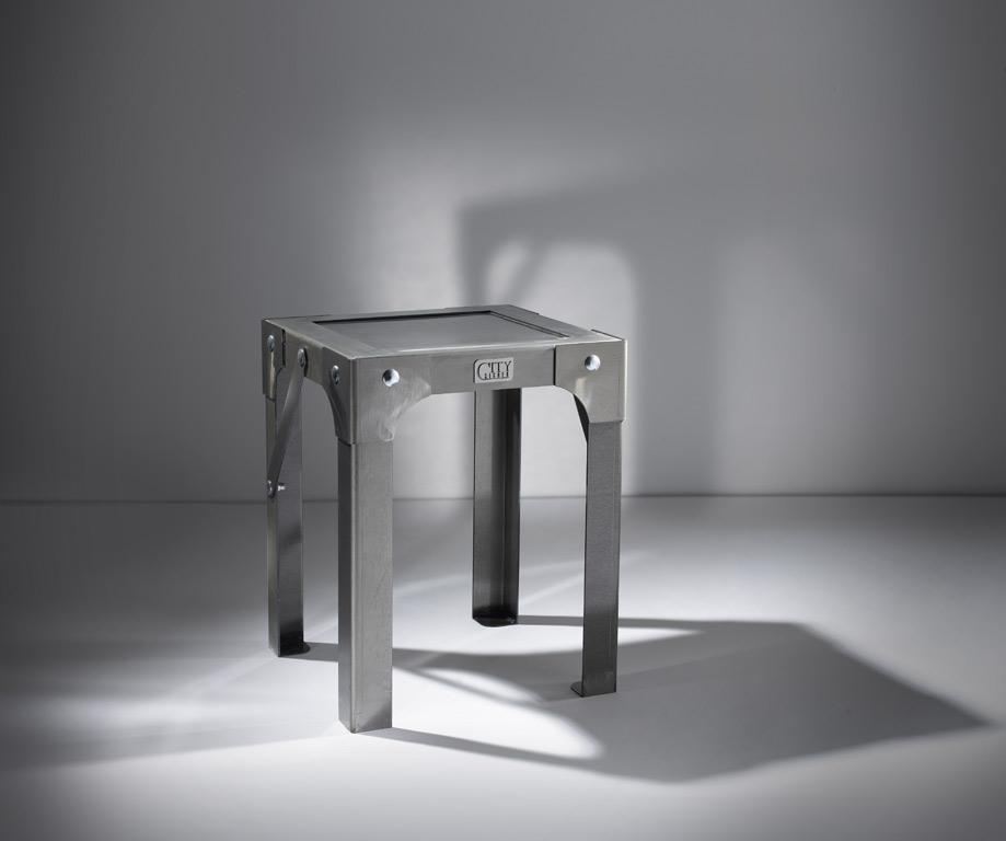 tabouret atelier en acier l370 x l370 x h455 assises tabourets citysigner. Black Bedroom Furniture Sets. Home Design Ideas