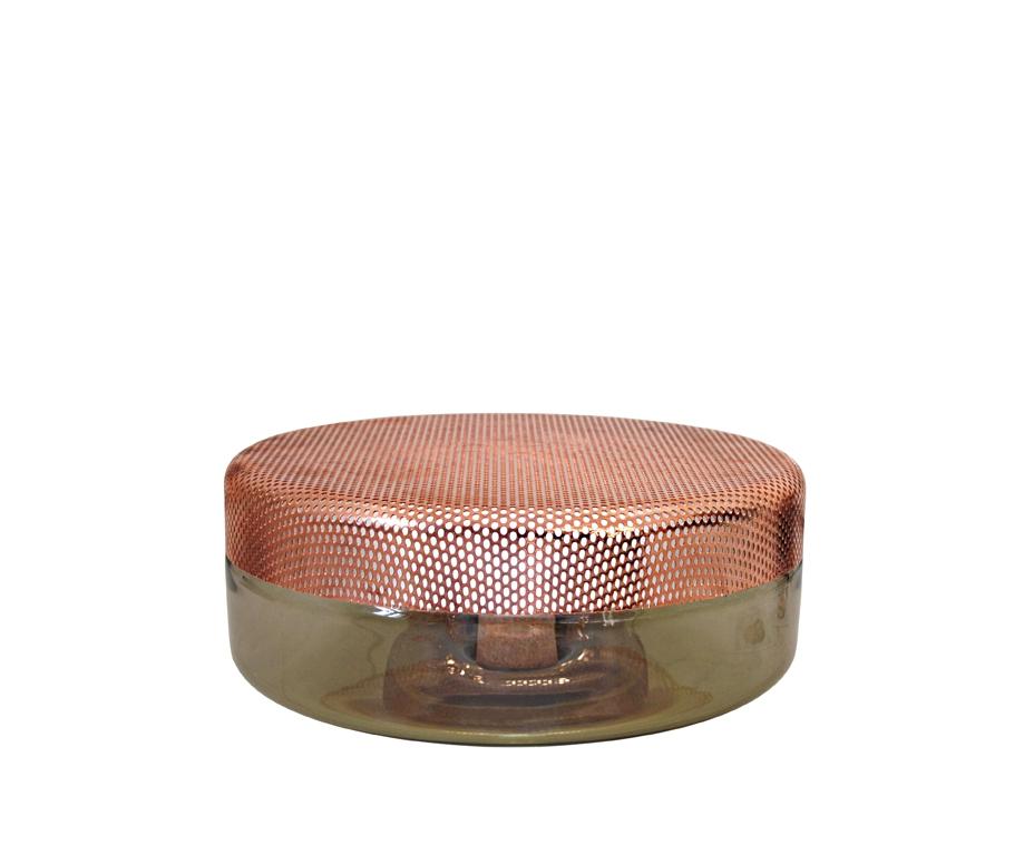 lampe poser big light drop brun cuivr d320 x h155 d co objets d co citysigner. Black Bedroom Furniture Sets. Home Design Ideas