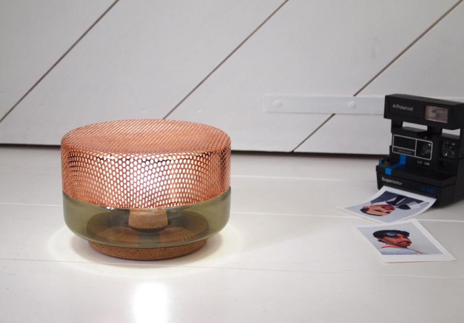 lampe poser small light drop brun cuivr 200 mm x 150 mm d co objets d co citysigner. Black Bedroom Furniture Sets. Home Design Ideas