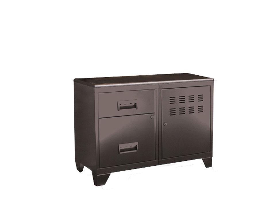 Armoire 1 porte et 2 tiroirs pierre henry l800xprof for Armoire de rangement a tiroir