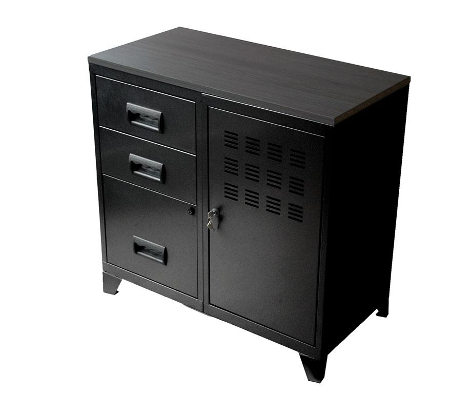 armoire sur pieds 1 porte et 3 tiroirs pierre henry mm rangements. Black Bedroom Furniture Sets. Home Design Ideas
