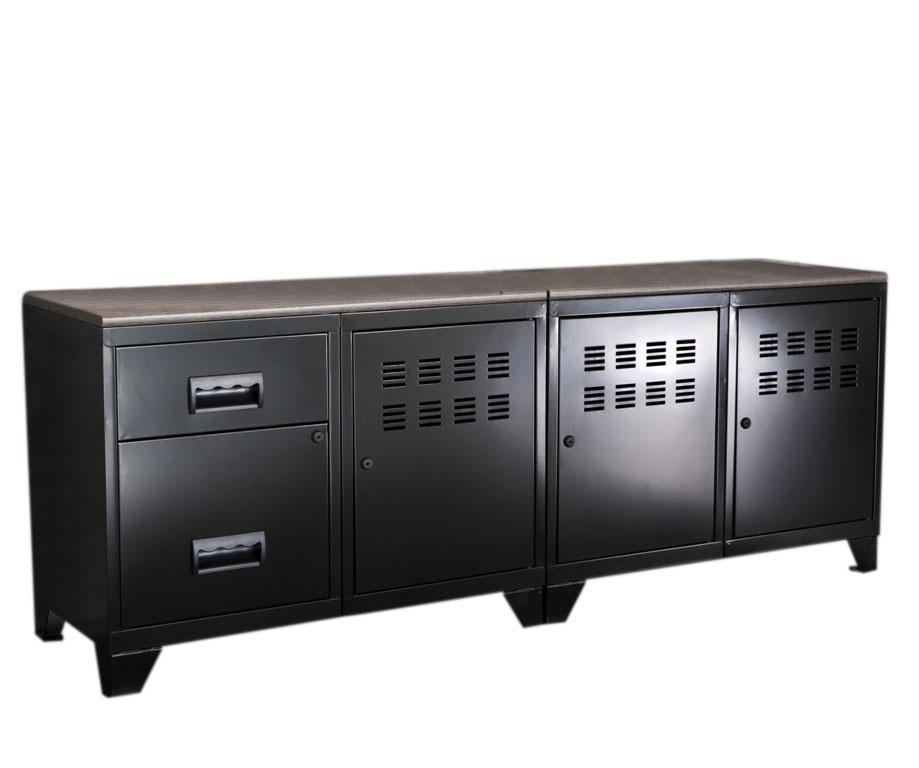 Meuble tv 3 portes et 2 tiroirs pierre henry mm rangements meuble tv - Meuble tv et rangement ...
