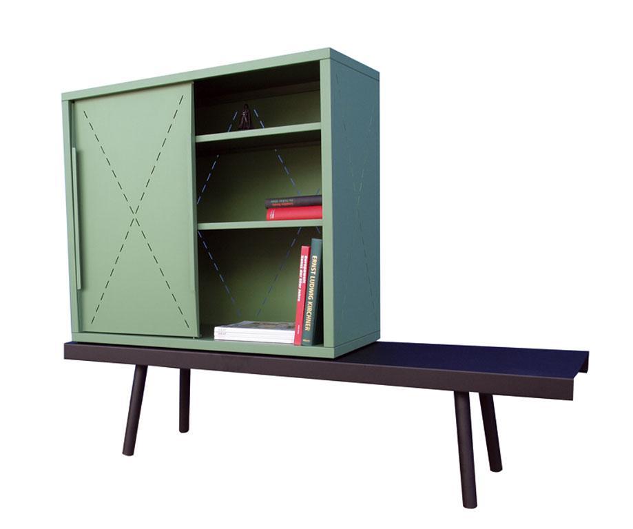 rangement buffet tauber vert 96 x 42 x 86 rangements. Black Bedroom Furniture Sets. Home Design Ideas
