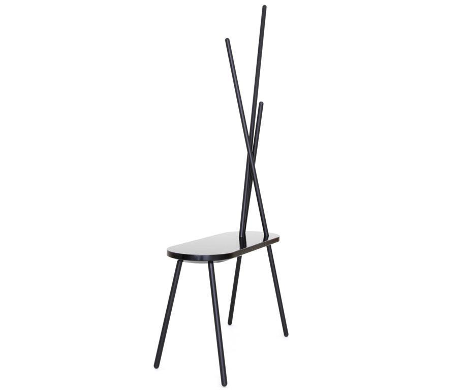 porte manteau karibu en acier noir h159 x l75 x p28. Black Bedroom Furniture Sets. Home Design Ideas