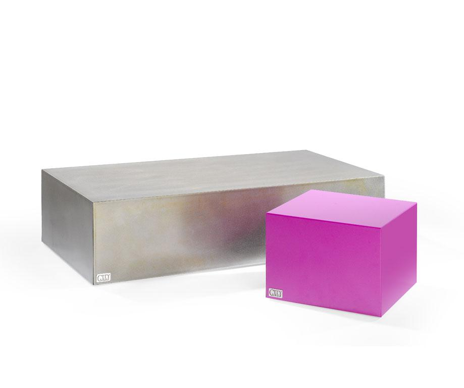 Table basse cube en acier l1200 x l600 x h300 tables for Deco fr table basse