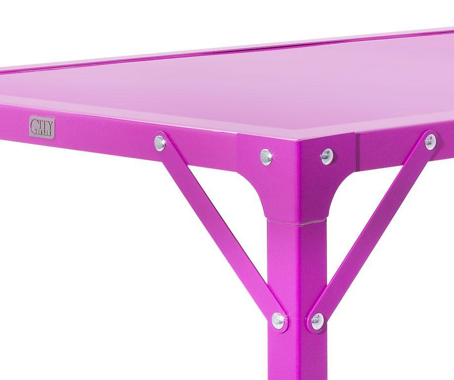 Table manger atelier en acier de 8 personnes l2015 x for Taille table 8 personnes